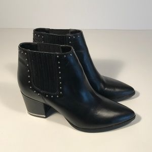 Michael Kors Leather Studded Booties Women 7 M
